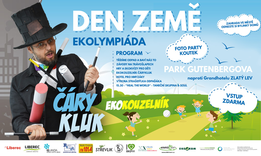 Ekolympiáda Liberec - kouzelník Čáry Kluk