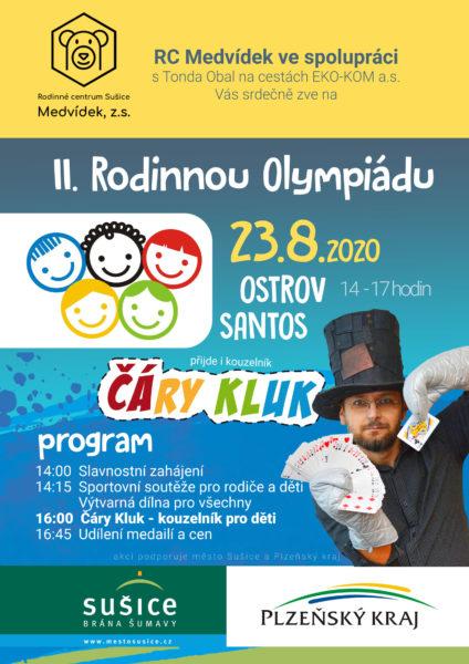 Rodinná Olympiáda Sušice a kouzelník pro děti