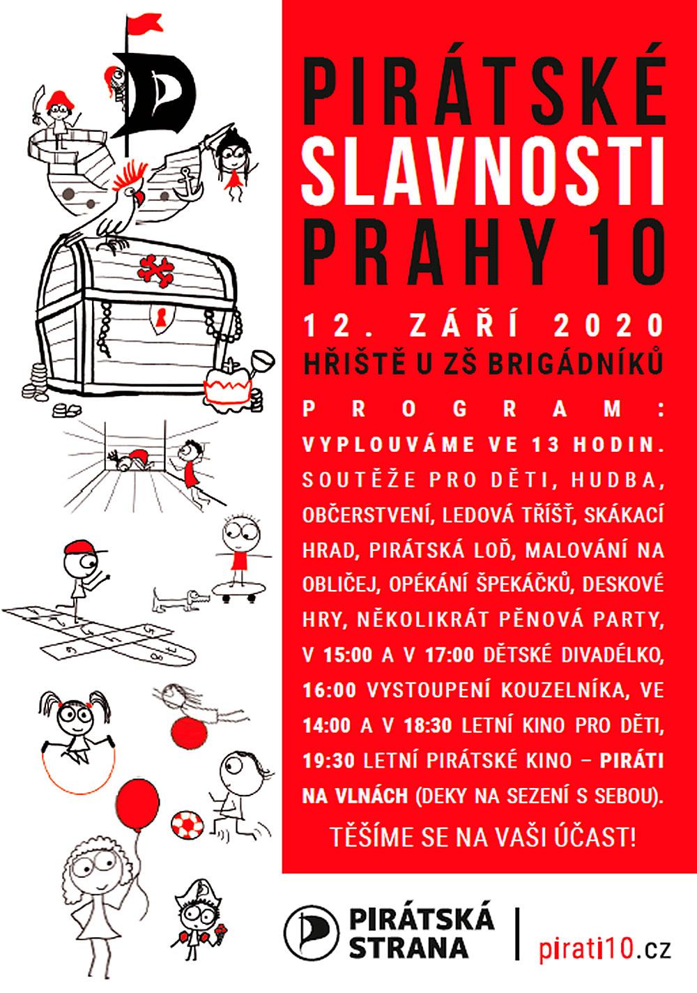 Pirátské slavnosti Praha 10 pozvánka na kouzelníka