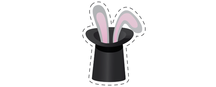 Kouzelník Čáry Kluk bílé logo